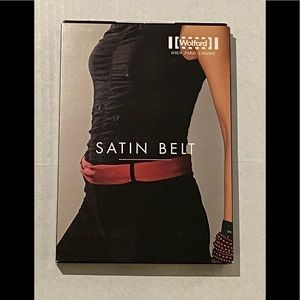 Wolford satin belt black one size new in box